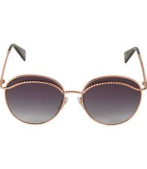 58mm rounded aviator sunglasses