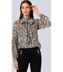 blouse alba moda zwart::goudkleur