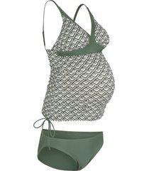 tankini prémaman (set 2 pezzi) (verde) - bpc bonprix collection