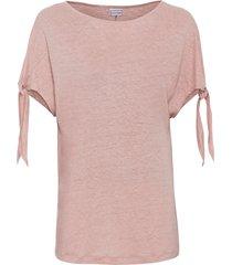 maglia boxy in lino (rosa) - bodyflirt