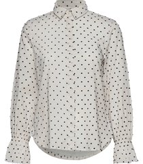 d1. smock dot dobby shirt overhemd met lange mouwen wit gant