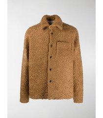 marni shearling shirt jacket