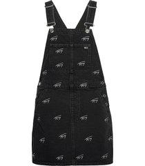 dungaree dress svcbkr kort klänning svart tommy jeans