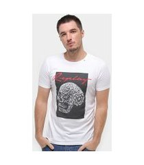 camiseta replay caveira masculina