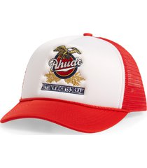 men's rhude eagle dream embroidered baseball cap -