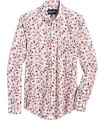 paisley & gray slim fit sport shirt raspberry floral