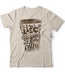 camiseta begins after coffee - unissex