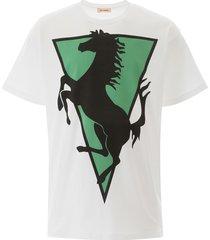raf simons horse print t-shirt