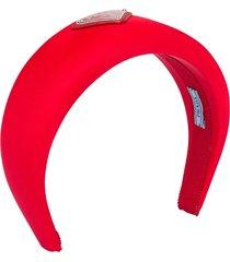 prada nylon headband - red