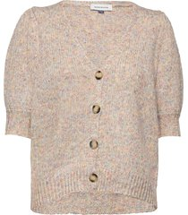 dhfay knit cardigan stickad tröja cardigan brun denim hunter