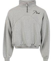 quarter zip sweatshirt, heather grey