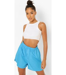 boxer shorts met knoop detail, blue