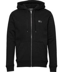 new standard sall badge hoodie trui zwart mads nørgaard