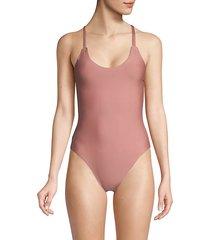 cross back 1-piece swimsuit