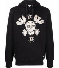 alexander mcqueen skull-motif hoodie