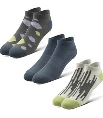 men's pair of thieves rfe assorted 3-pack cushion low-cut socks, size one size - grey