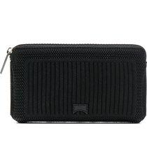 camper lava knitted purse - black