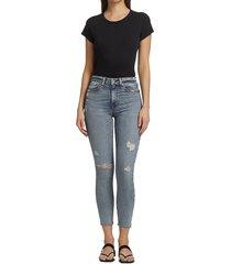 rag & bone women's nina high-rise distressed skinny jeans - horizon - size 23 (00)
