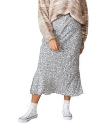 cotton on women's curve 90s slip skirt