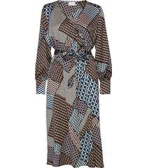 kaselina midi dress knälång klänning multi/mönstrad kaffe