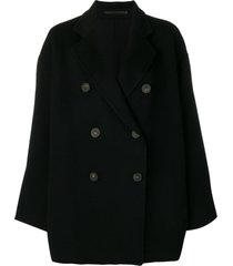 acne studios a-line jacket - black