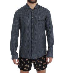 motive print pyjama shirt pyjama