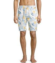hanro men's night & day woven print shorts - size xl