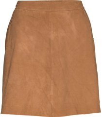 suede skirt w/studs kort kjol brun depeche