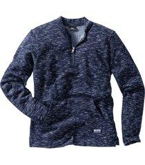 felpa melange stile college (blu) - bpc bonprix collection