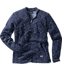 felpa melange stile college regular fit (blu) - bpc bonprix collection
