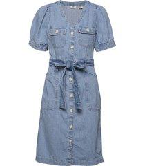 bryn dress loosey goosey knälång klänning blå levi´s women