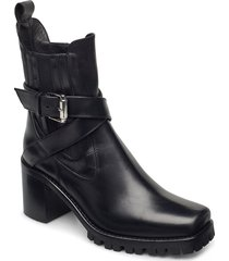 randy shoes boots ankle boots ankle boot - heel svart nude of scandinavia