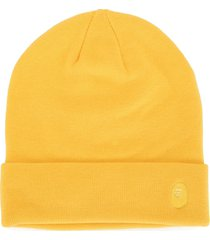 a bathing ape® embroidered logo beanie - yellow