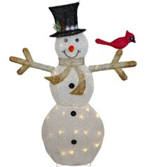 northlight led lighted snowman with top hat christmas outdoor decoration