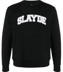 neil barrett slayde embossed sweatshirt - black