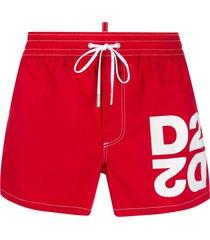 dsquared2 drawstring logo swim shorts