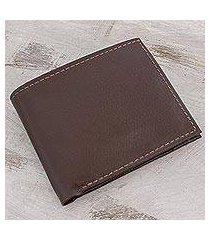leather wallet, 'chestnut convenience' (el salvador)