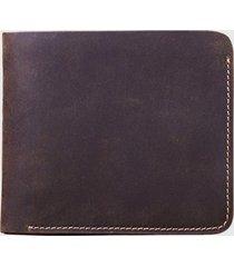 billetera monedero de cierre cuero marrón millam