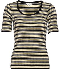5x5 stripe taura t-shirts & tops short-sleeved gul mads nørgaard