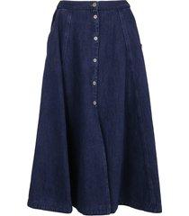 forte forte calvary cotton denim flared skirt