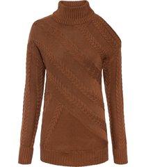 maglione con cut-out (marrone) - bodyflirt boutique