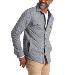 men's faherty brand epic quilted fleece cotton blend jacket, size xx-large - black