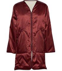 york coat doorgestikte jas rood filippa k