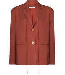 rejina pyo tie-fastening detail single-breasted blazer - red