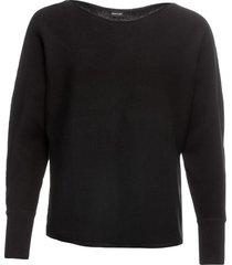 maglione oversize a costine (nero) - bodyflirt