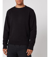 maison margiela men's elbow patch sweatshirt - black - it 52/xl