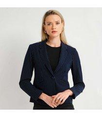 chaqueta para mujer en poliester poliester multicolor color negro talla s