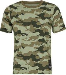 t-shirt med tryckt camomönster