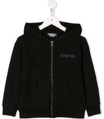 bonpoint full zip sweater - black