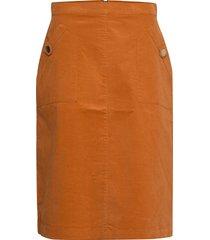 cordiesz skirt knälång kjol brun saint tropez